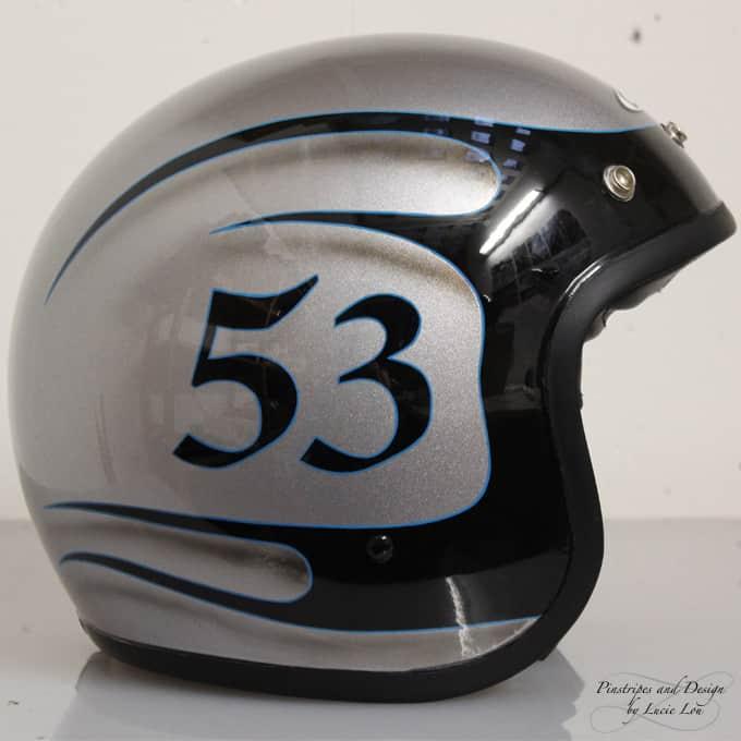 Pinstripe Outlines Helmet 53