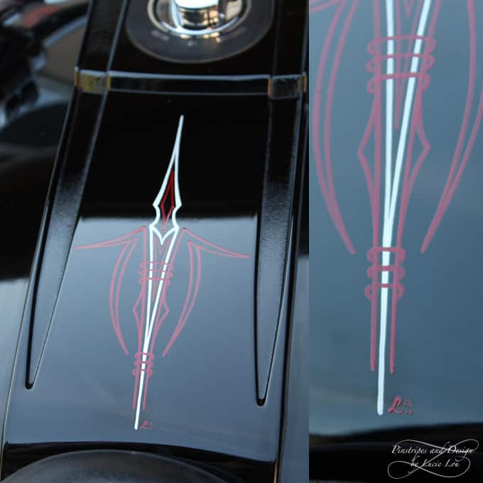 Pinstripe on a Cover of a Harley Night Train