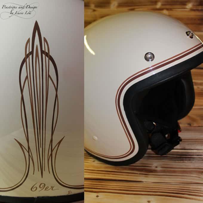 Classic Pinstripe Helmet
