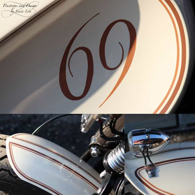 Pinstripe and Lettering Harley Bobber