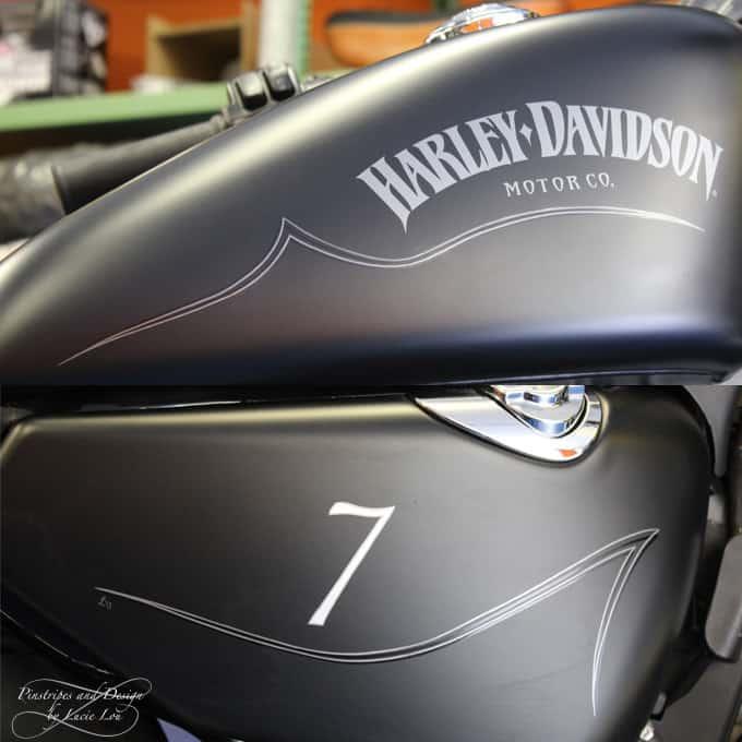 Pinstripe Harley Sportster 7