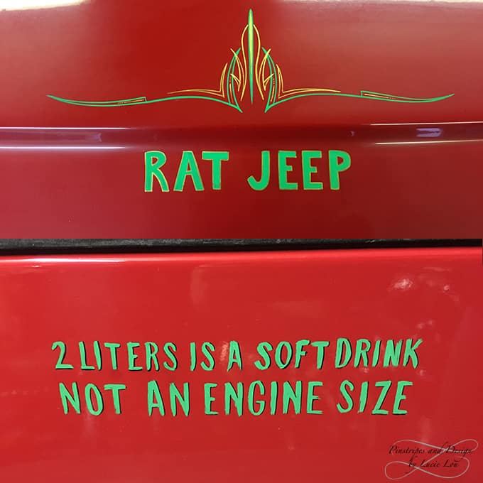 Pinstripes Rat Jeep
