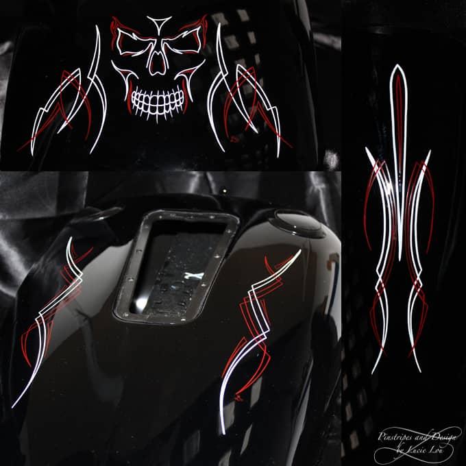 Skull Pinstripe Harley Rocker C