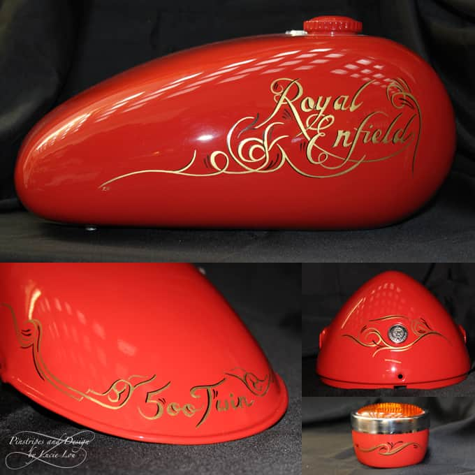 Pinstripe Scroll Royal Enfield