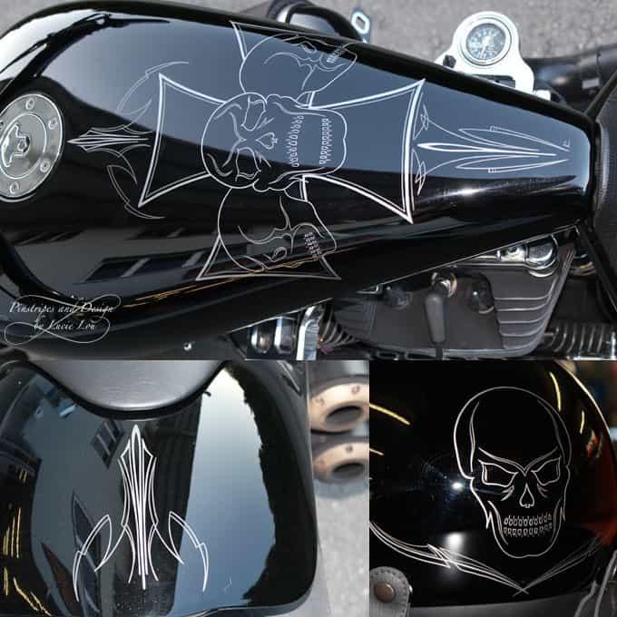 Pinstripe Skulls Walz Bike