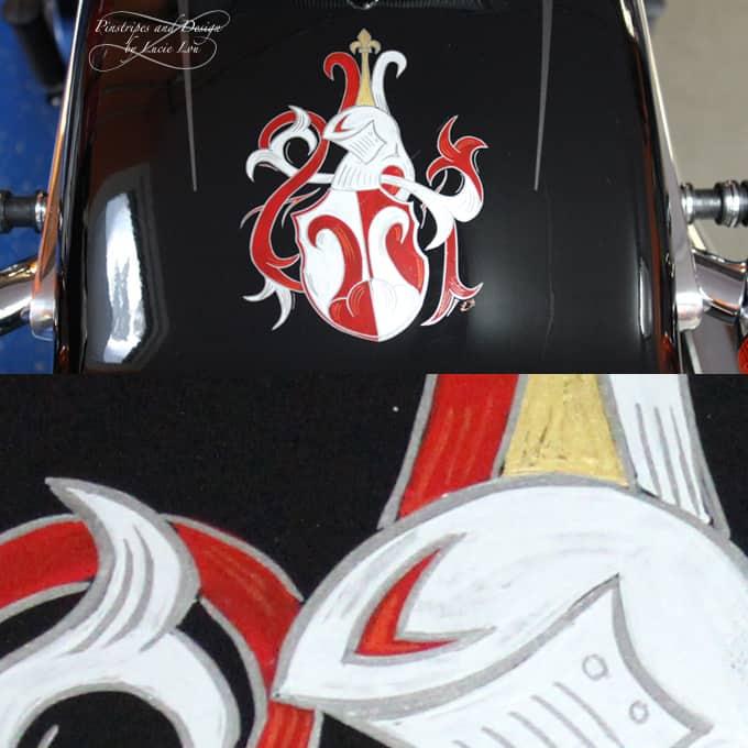 Pinstripe Wappen, Pinstripe of a Family Crest