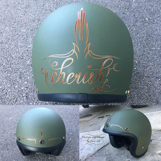 Pinstripe Vintage Helm Cherish