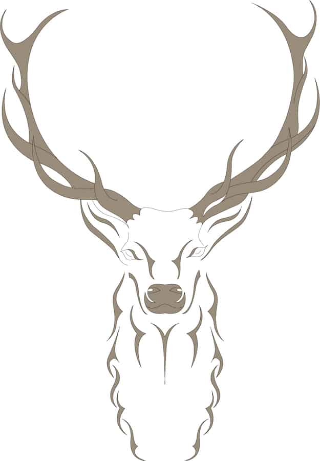 Abstract Illustration of a Deer with brown fillings