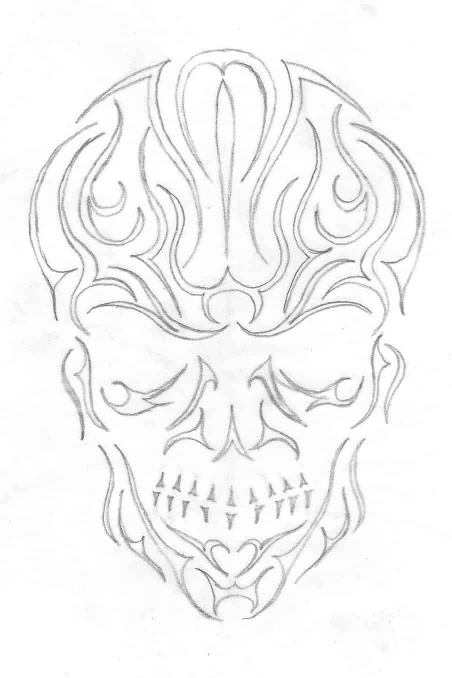 Sketch of an abstract skull