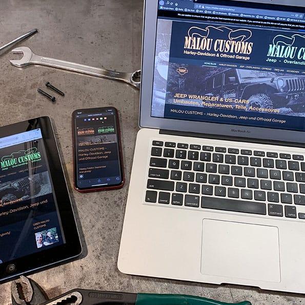 Fully responsive Website for MALOU CUSTOMS